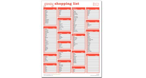 excel shopping list template grocery shopping list excel template savvy spreadsheets