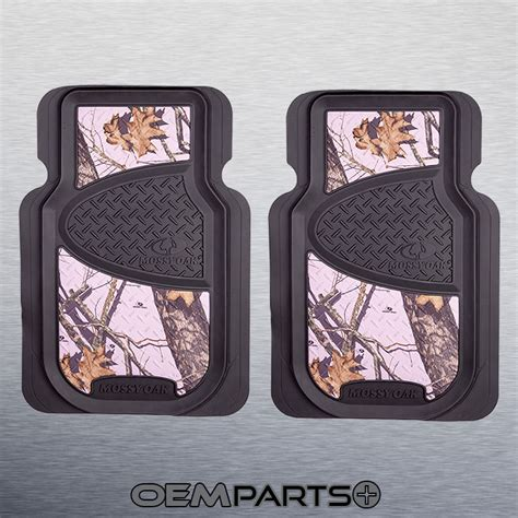Mossy Oak Floor Mats Pink by 2x Pink Mossy Oak Front Floor Mats Camouflage Camo Truck