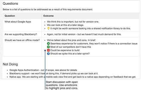 project design criteria document how to create product requirements using confluence