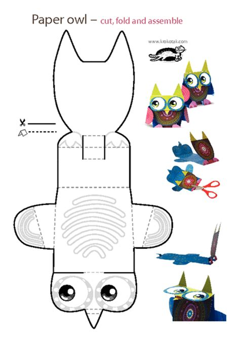 printable paper animals krokotak print printables for kids tavasz pinterest