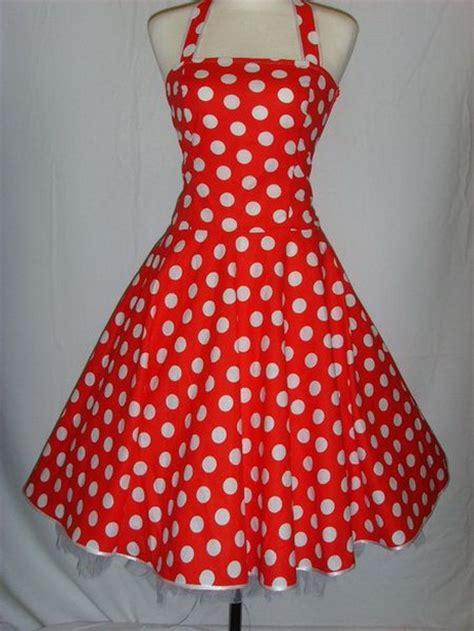 kleid gepunktet rot wei 223 gepunktetes kleid