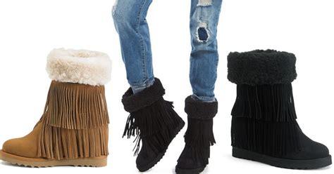 kohls fringe boots kohl s cardholders women s fringe boots 12 59 shipped