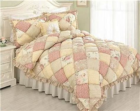 Yellow Paisley Comforter by Puff Quilt Set Cottage Pink Yellow