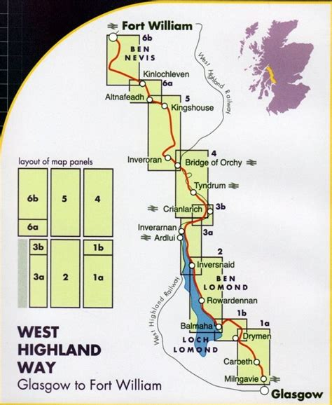 west highland way map booklet 1 25 000 os route mapping books wanderkarte west highland way 1 40 000 geobuchhandlung kiel