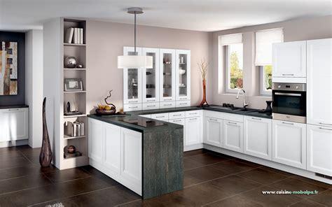 Incroyable Les Plus Belles Cuisines Ouvertes #3: cuisine-mobalpa-lynka-blanc.jpg