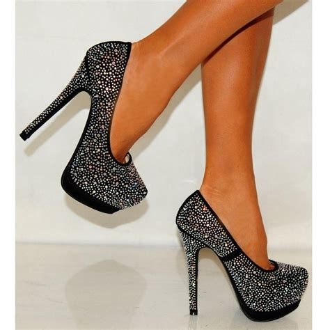 rhinestones high heels encrusted swarovski rhinestones black high