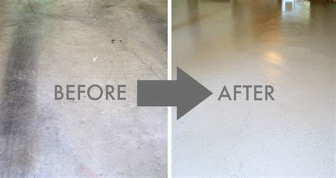 How To Repaint Concrete Floor by Painting A Concrete Garage Floor