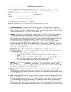 contractor contract template independent contractor contract by brittanygibbons