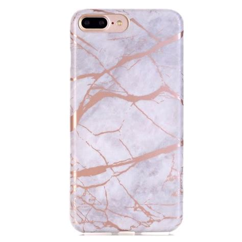 white  rose gold chrome marble case  iphone rose gold marble case cases  la mode