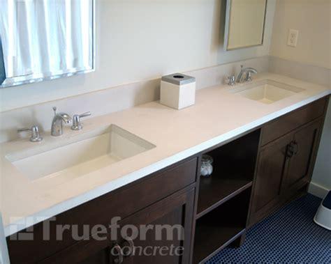 concrete countertops bathroom concrete throughout the home new jersey shore trueform decor
