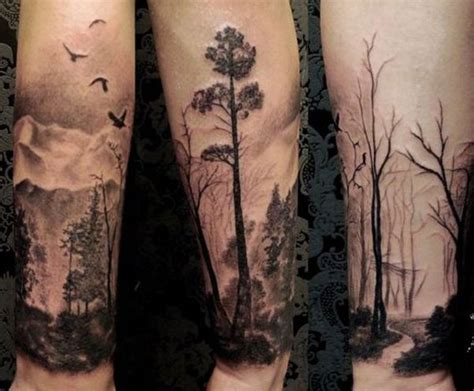 forest tattoo designs 50 mountain tattoos tattoofanblog