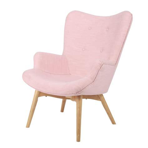 pink armchair scandinavian pink fabric armchair iceberg maisons du monde
