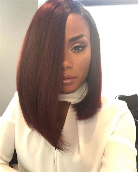 burgundy bob hairstyles babe 14 quot brazilian straight hair extension ombre burgundy