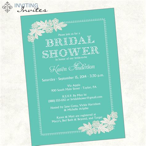 Bridal Shower Invite Bridal Shower Invite Wording Card Bridal Shower Invitation Templates