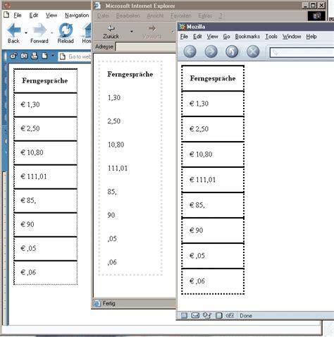 css tutorial in xml css tutorial teil 2 frames tabellen und xml ix