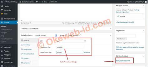 tutorial woocommerce wordpress indonesia panduan menambah produk oke web indonesia