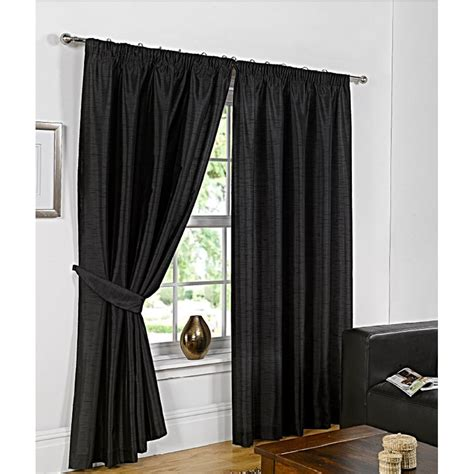 b m curtains b m faux silk fully lined pencil pleat curtains 45 x 54