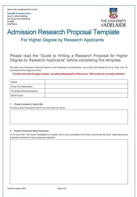 choose from 40 research proposal templates exles 100