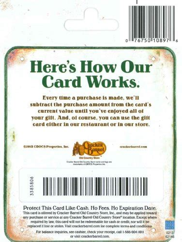 Cracker Barrel Gift Cards Where To Buy - cracker barrel gift card 25 arts entertainment party celebration giving cards