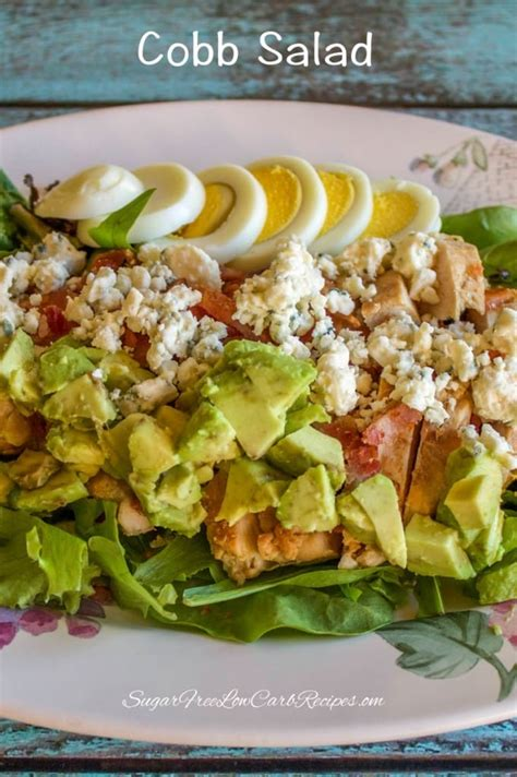 healthy chicken cobb salad for one low carb yum