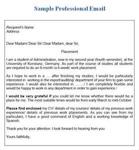 professional email 7 sles exles format