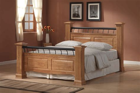 king wood bed frame king size wood bed frame plans andreas king bed