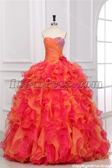 2013 Multi Color Ball Gown Dresses for Teenagers:1st dress.com