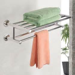 towel holder for wall wall mounted towel rack bathroom hotel rail holder storage
