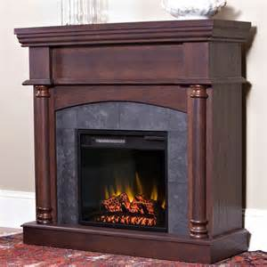 corner electric fireplaces chimney free wexford convertible cabinet brown cherry 18