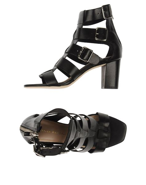 loeffler randall sandals lyst loeffler randall sandals in black