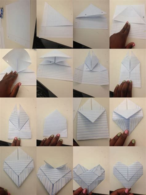 Folding Paper Ideas - just made this it was easy way to fold a note