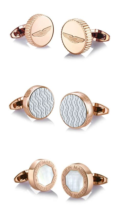 rose gold aston martin rose gold plated aston martin cufflinks aston martin