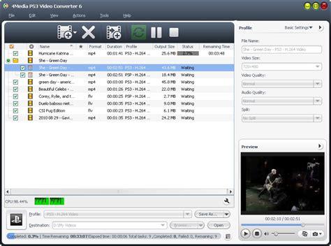 Format Video Ps3 | 4media ps3 video converter 6 it can convert video