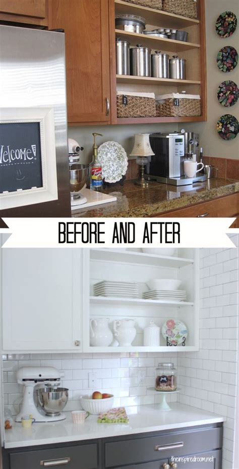 white kitchen cabinets before and after before and after 15 kitchen makeover projects