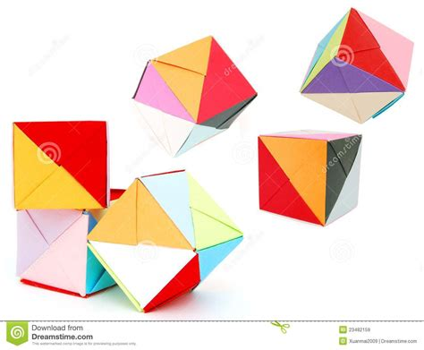 Paper Folding Cube - origami cube royalty free stock images image 23482159