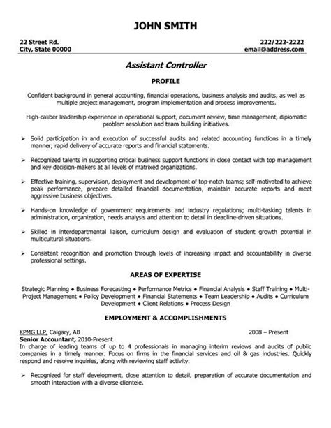 accounting assistant resume sles 31 best images about best accounting resume templates