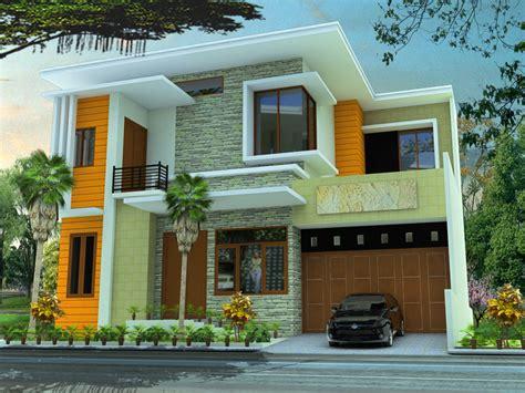 Koko Al Ghifari Biru Pastel Kombinasi Krem konsep rumah minimalis 2 lantai untuk anda rumah minimalis mewah