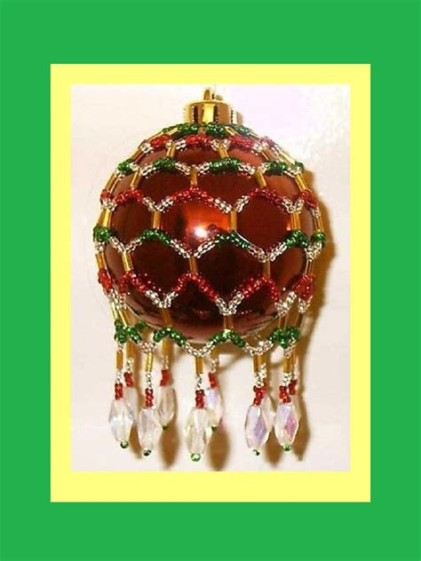pattern for christmas ornaments victorian inspired beaded christmas ornament cover pattern