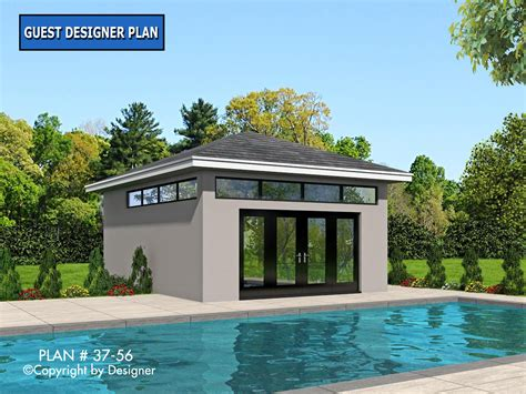 home plans with pool pool house plan 37 56 house plans by garrell associates