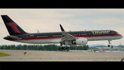 trump s plane donald trump s jet b757 200 n757af youtube