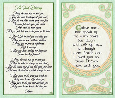 celtic funeral card free templates cards with prayer on front page 1