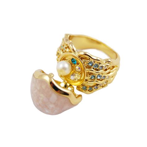 mermaid pearl ring by disney couture