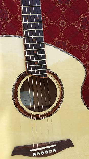 custom handcrafted caton acoustic guitar reverb