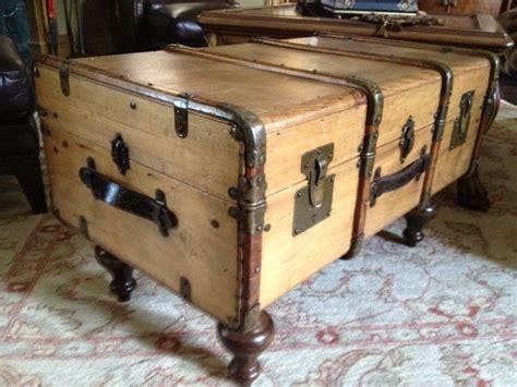 antique trunk coffee table diy repurposing