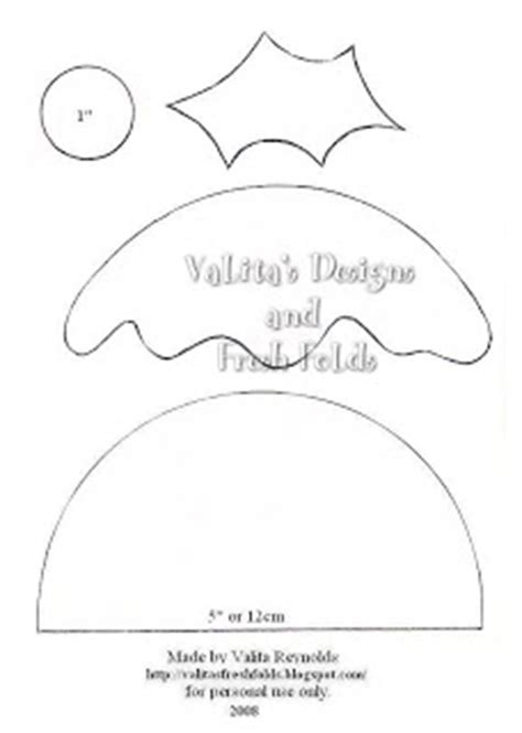 pudding card template valita s designs fresh folds pudding pattern