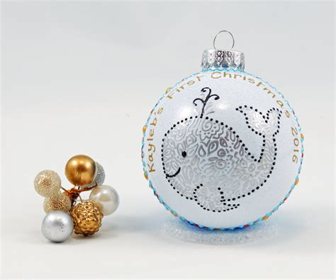 baby s first christmas ornament personalized hand