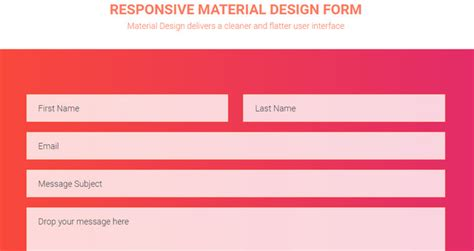 material design form html 20 code snippets for clean and stylish contact forms noupe
