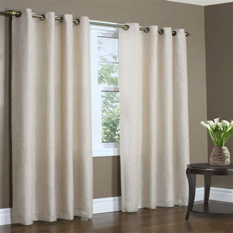 Lined Grommet Curtains Rhapsody Thermavoile Semi Sheer Lined Grommet Top Curtain Panel Townhouse Linens