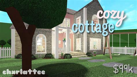 colourful cottage speedbuild bloxburg youtube