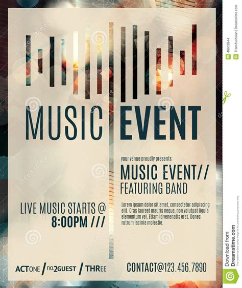 Music Event Flyer Template Stock Vector Illustration Of Blurry 48002844 Event Flyer Template